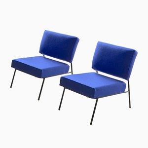 Französische Vintage Sessel von Pierre Guariche für Airborne, 2er Set