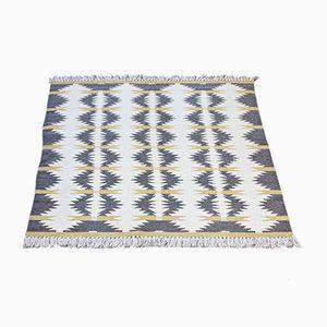 Schwedischer Rölakan Teppich aus Doppelgewebe, 1950er