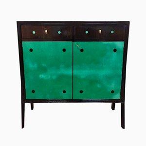 Parchment & Macassar Ebony Cabinet, 1950s