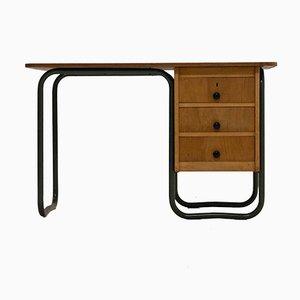 Mid-Century Mteallrohr Schreibtisch im Bauhaus Stil, 1950er
