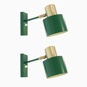 Mid-Century Model Alfa Wall Lights by Jo Hammerborg for Fog & Mørup, Set of 2