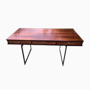 Rosewood & Chrome Desk by Finn Juhl, 1960s
