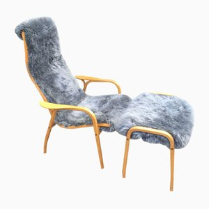 Lamino Chair & Ottoman by Yngve Eckström for Swedese, 1950s
