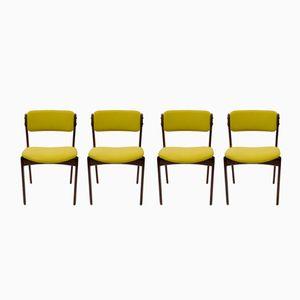 Dänische Modell 49 Stühle aus Palisander von Erik Buch für Oddense Maskinsnedkeri, 1970er, 4er Set