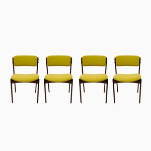 Model 49 Danish Rosewood Chairs by Erik Buch for Oddense Maskinsnedkeri, 1970s, Set of 4