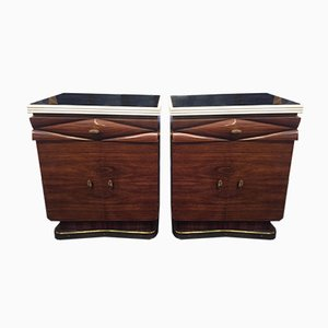 Italian Rosewood Nightstands by Michele Merighi for Ronconi Cantù, 1940s, Set of 2