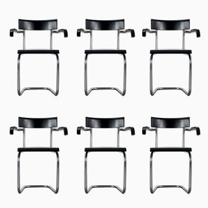 Model 262 Cantilever Chairs by Mart Stam for Thonet, 1930s, Set of 6
