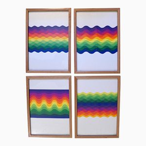 Untitled Prints by Julio Le Parc, 1977, Set of 4