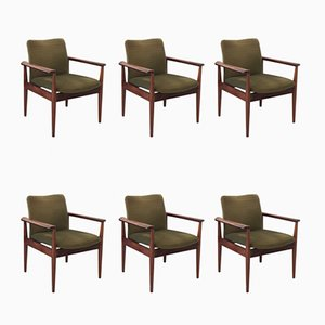 Model 209 Diplomat Chairs by Finn Juhl for Cado, 1960s, Set of 6