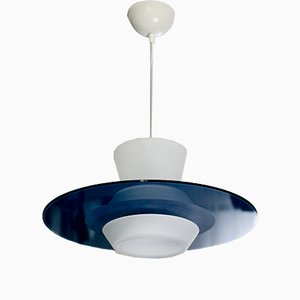 Frosted Glass Zefiro Pendant by Pier Guiseppe Ramella for Arteluce, 1987