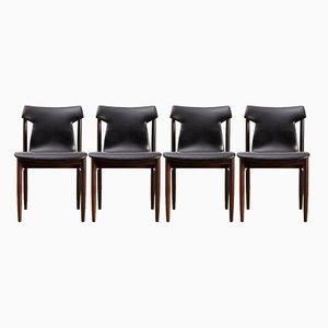 IK Rosewood Dining Chairs by Inger Klingenberg for Fristho, 1960, Set of 4