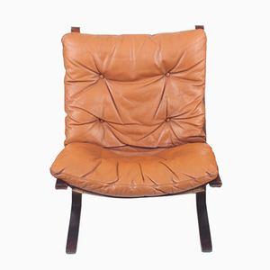 Siesta Leder Sessel von Ingmar Relling für Westnofa, 1960er