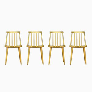 Vintage J77 Chairs by Folke Pålsson for FDB, Set of 4