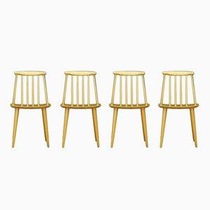 Vintage J77 Stühle von Folke Pålsson für FDB, 4er Set