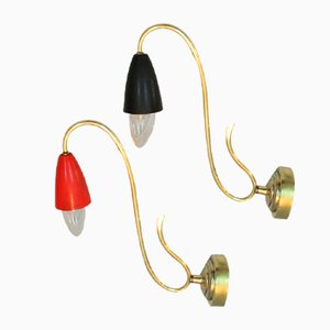 Italienische Wandlampen, 1950er, 2er Set