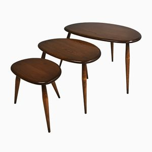 Nesting Tables by Lucian Ercolani for Ercol, 1960s