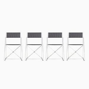 Stühle mit X Gestellen von Niels Jorgen Haugesen für Magis, 1970, 4er Set