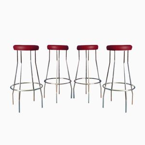 Mid-Century German Bar Stools, 1960s, Set of 4