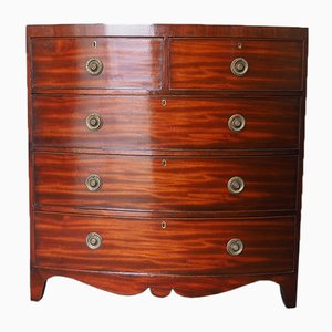Early 19th-Century Mahogany Bow Fronted Chest of Drawers