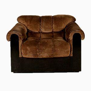 Italienischer Vintage Wildleder Sessel