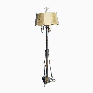 Art Nouveau Brass Floor Lamp, 1920s