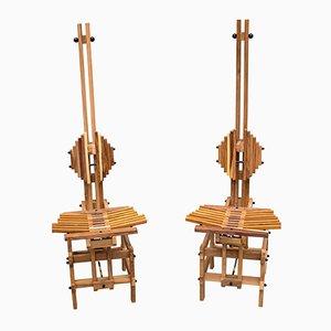 Holz Stühle von Anacleto Spazzapan, 1996, 2er Set