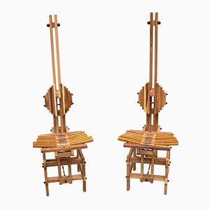 Wooden Chairs by Anacleto Spazzapan, 1996, Set of 2
