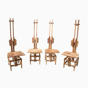 Wooden Chairs by Anacleto Spazzapan, 1996, Set of 4