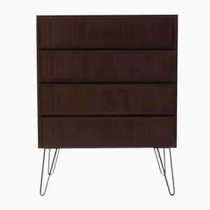 Mid-Century Mahogany Chest of Drawers from Omann Jun