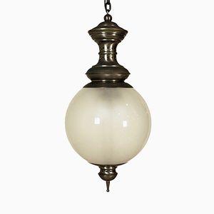 Lampe à Suspension LS1 en Laiton & Verre par Luigi Caccia Dominioni pour Azucena