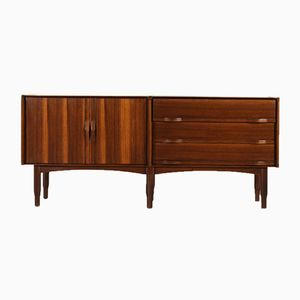 Rosewood Veneer Sideboard with Drawers, 1960s