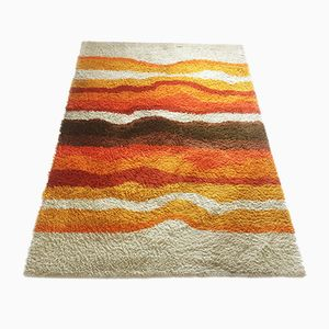 Vintage Multicolor High Pile Rya Rug from Desso, 1970s