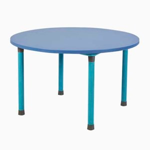 Blue Round Dining Table, 1970s