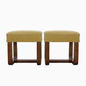 Art Deco Stools, 1930s, Set of 2
