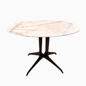 Table Basse avec Plateau de Marbre Portugais, Italie 1950s