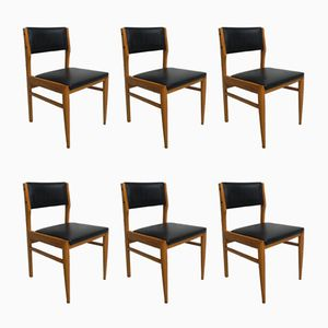 Vintage Dining Room Chairs with Skai, Set of 6