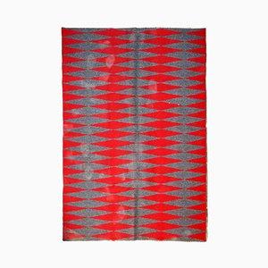 Vintage Handmade Swedish Flat-Weave Kilim Rug, 1950s