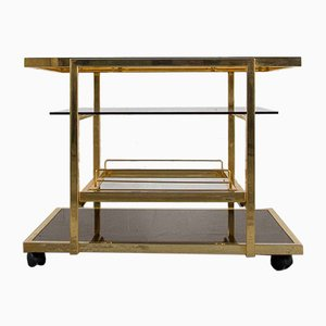 Vintage Gilded Serving Trolley from Fedam
