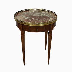 Antiker französischer Walnuss Bouillotte Tisch, 1880er