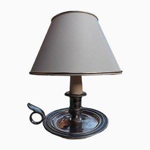 Versilberte Kerzenhalter Lampe, 1950er
