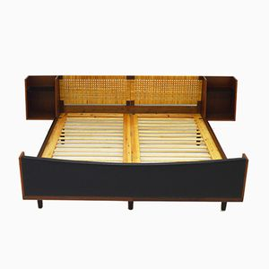 Mid-Century Teak & Rattan Double Daybed by Hans J Wegner for Getama