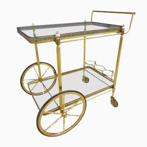 Mid-Century Serving Cart on Wheels