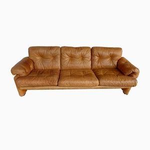 Vintage Coronado Leder Sofa von Tobia & Afra Scarpa