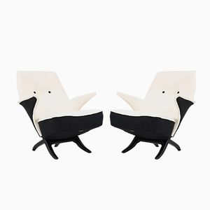 Mid-Century Penguin Chairs by Theo Ruth for Artifort, 1957, Set of 2