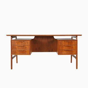 Teak Schreibtisch von Omann Jun, 1960er