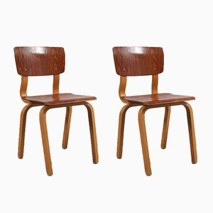 Plywood Children's Chairs, 1950s, Set of 2