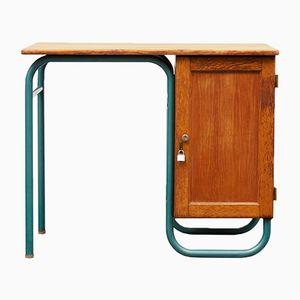 Kleiner Schreibtisch aus massiver Eiche, 1950er