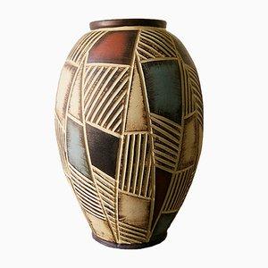 Mid-Century Keramik Bodenvase von Eiwa