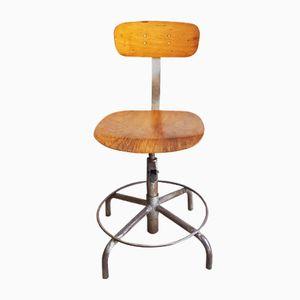 Industrieller italienischer Vintage Fabrik Stuhl
