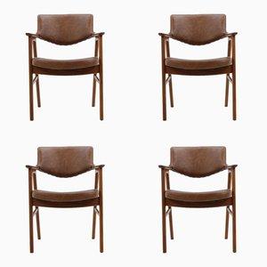 Armlehnstühle von Erik Kirkegaard für Høng Stolefabrik, 1960er, 4er Set